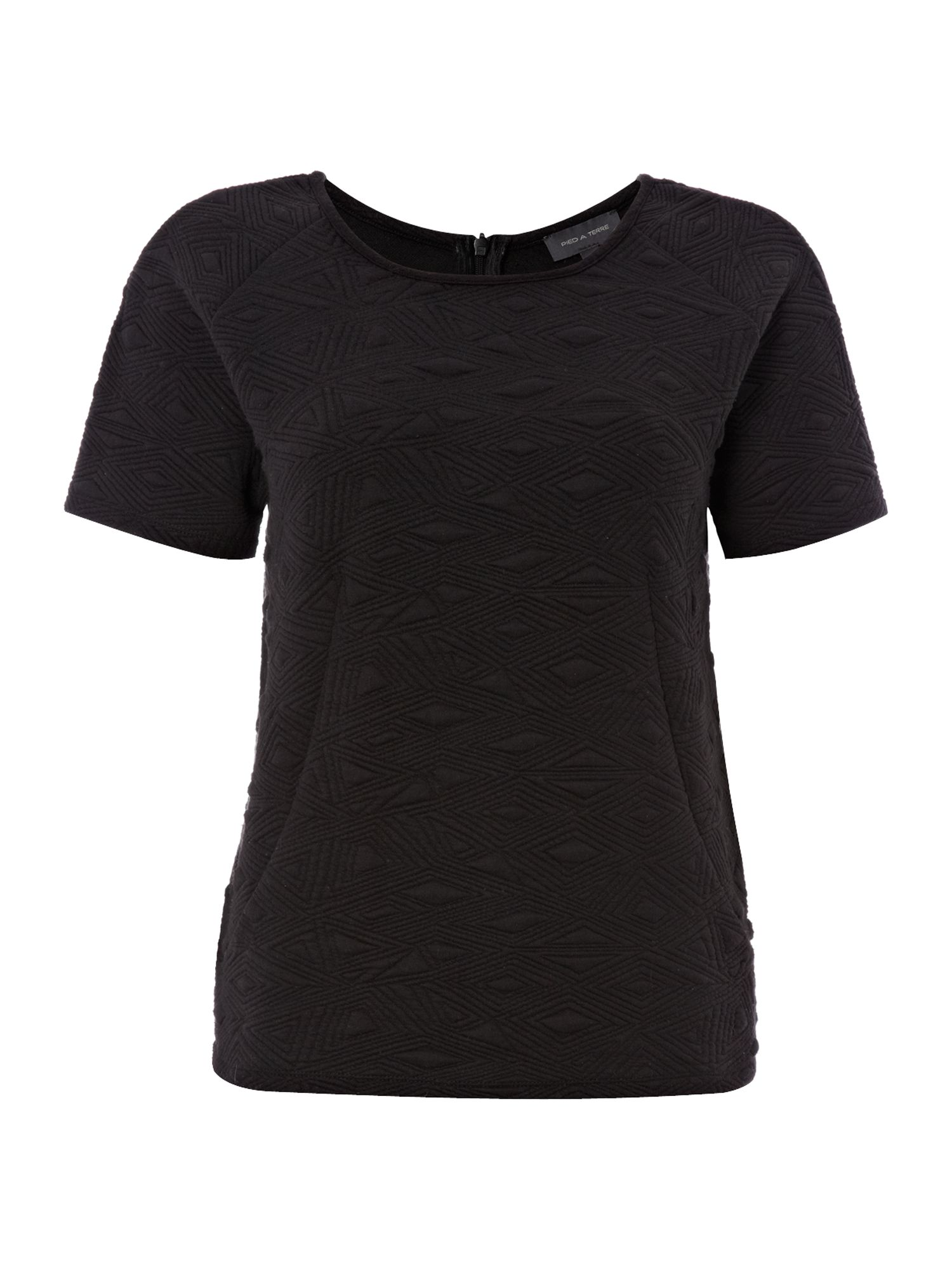Textured jersey couture tee