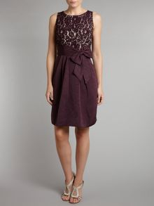 Eliza J Bow detail ottoman dress