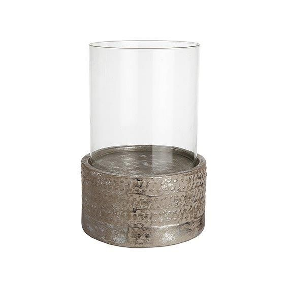Ceramic pearly hurricane lamp