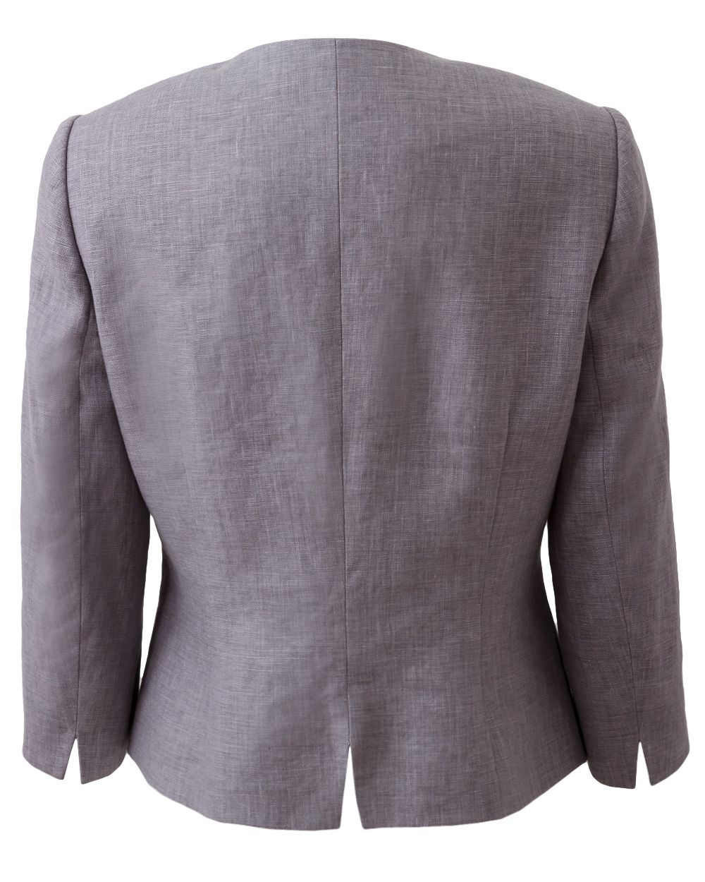 Victoire collarless linen jacket