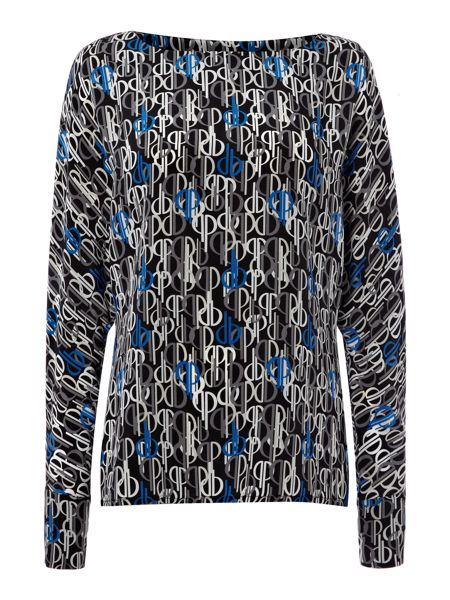 Pied a Terre Silk print batwing top