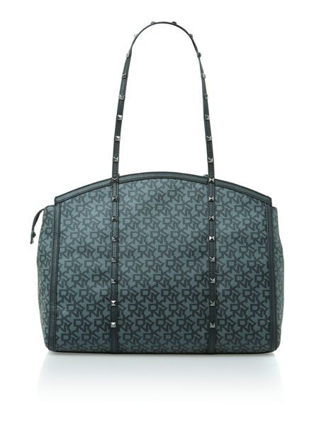 DKNY Coated logo with studs black tote bag