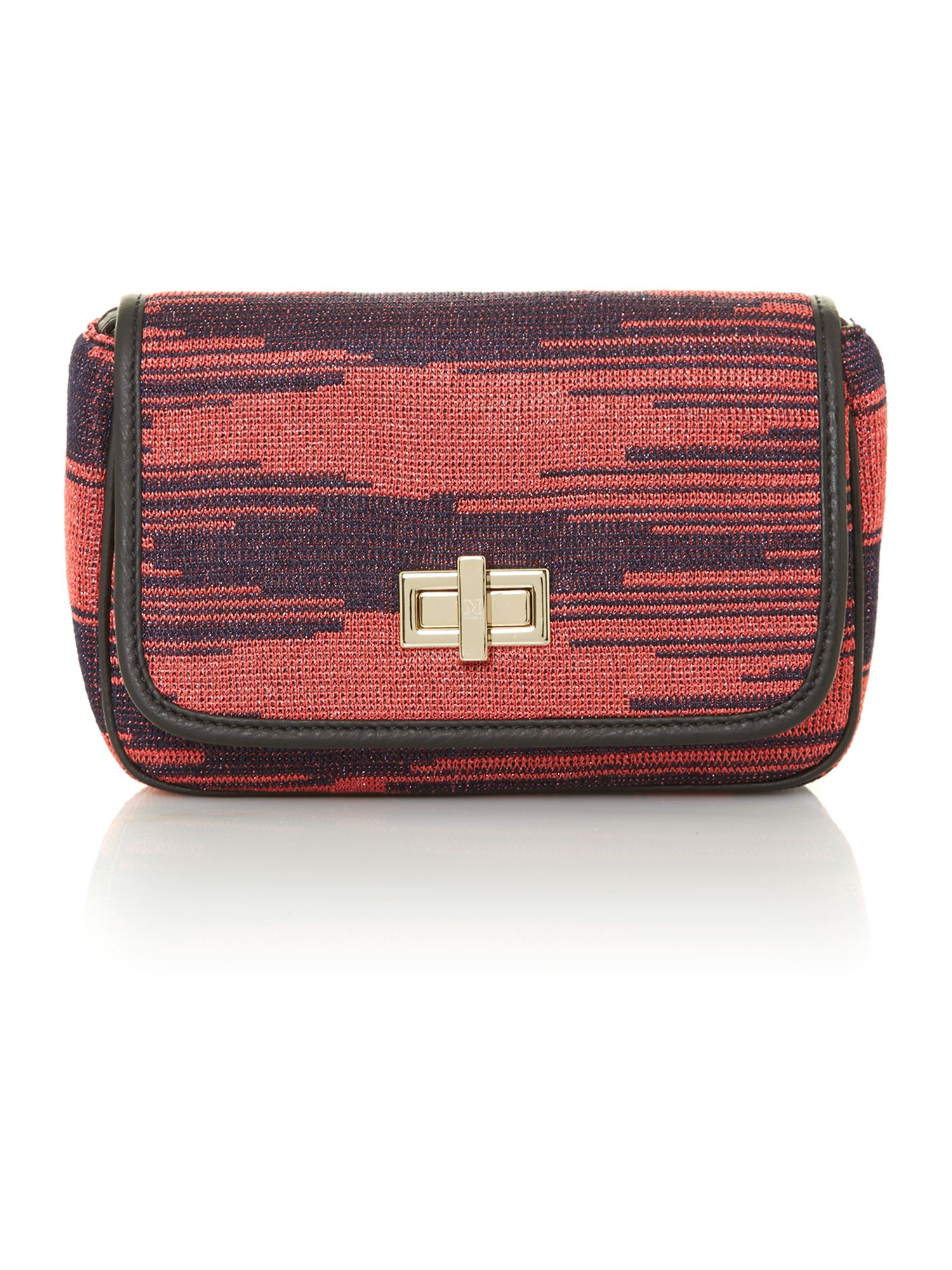 Multi-coloured print cross body bag