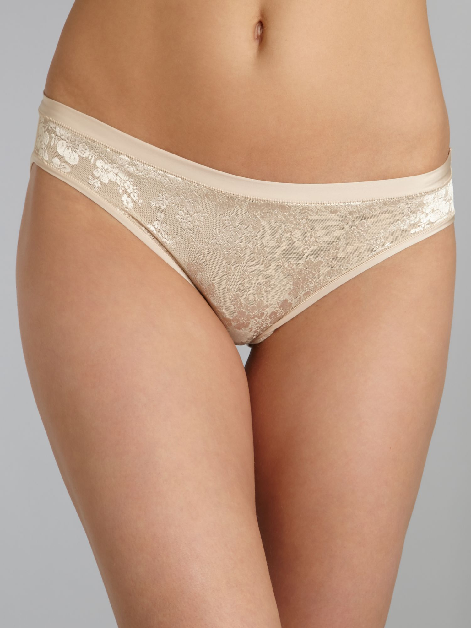 Body makeup lace tai brief
