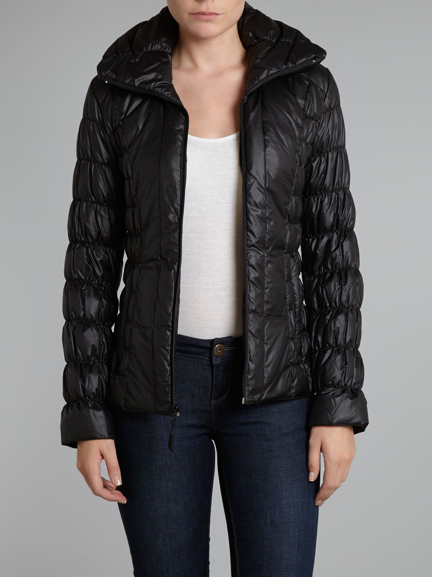 Quilted textured coat