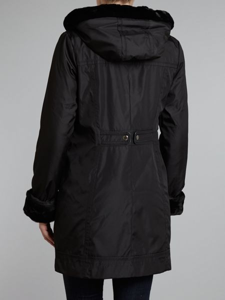 Marc NY Layla coat With Faux Fur Lining