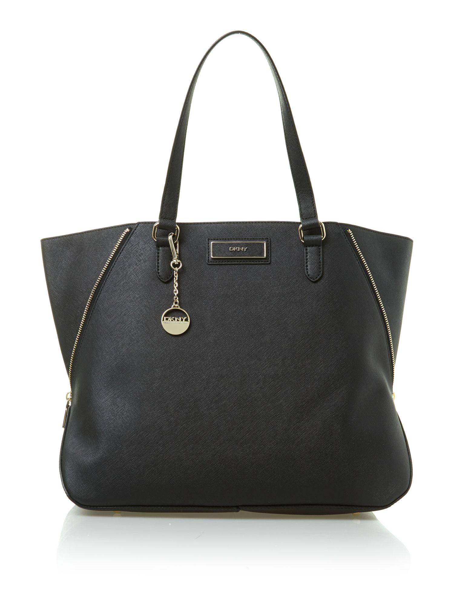 Saffiano large black tote bag