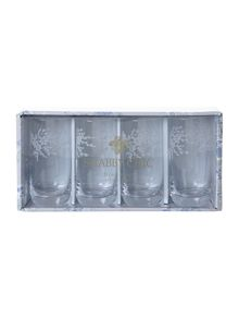 Shabby Chic Floral burst high ball glasses, box of 4