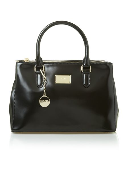 DKNY Hudson leather small black tote bag