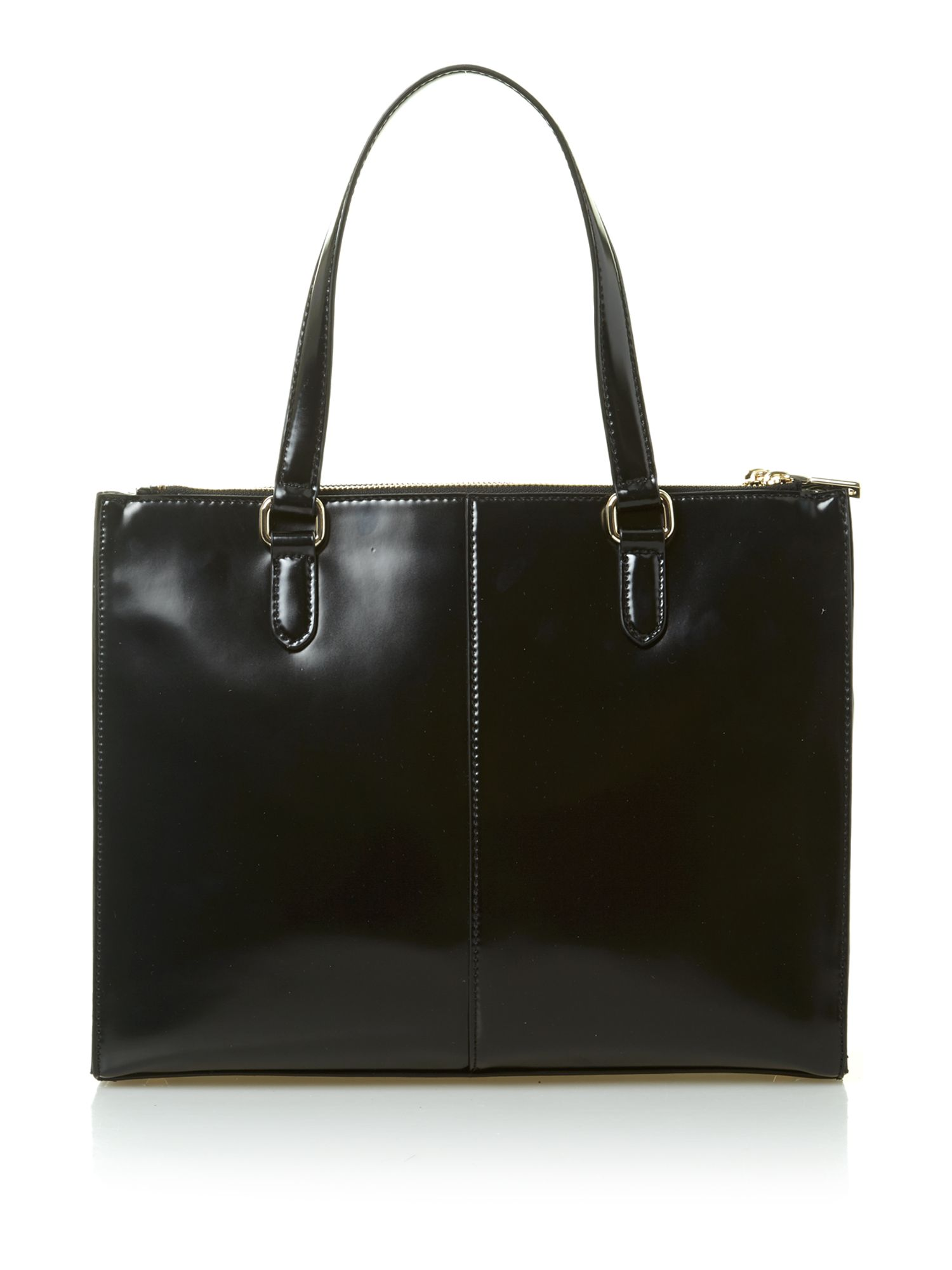Hudson leather black tote bag