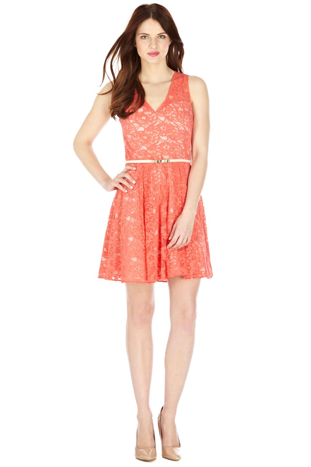 Isabelle lace skater dress