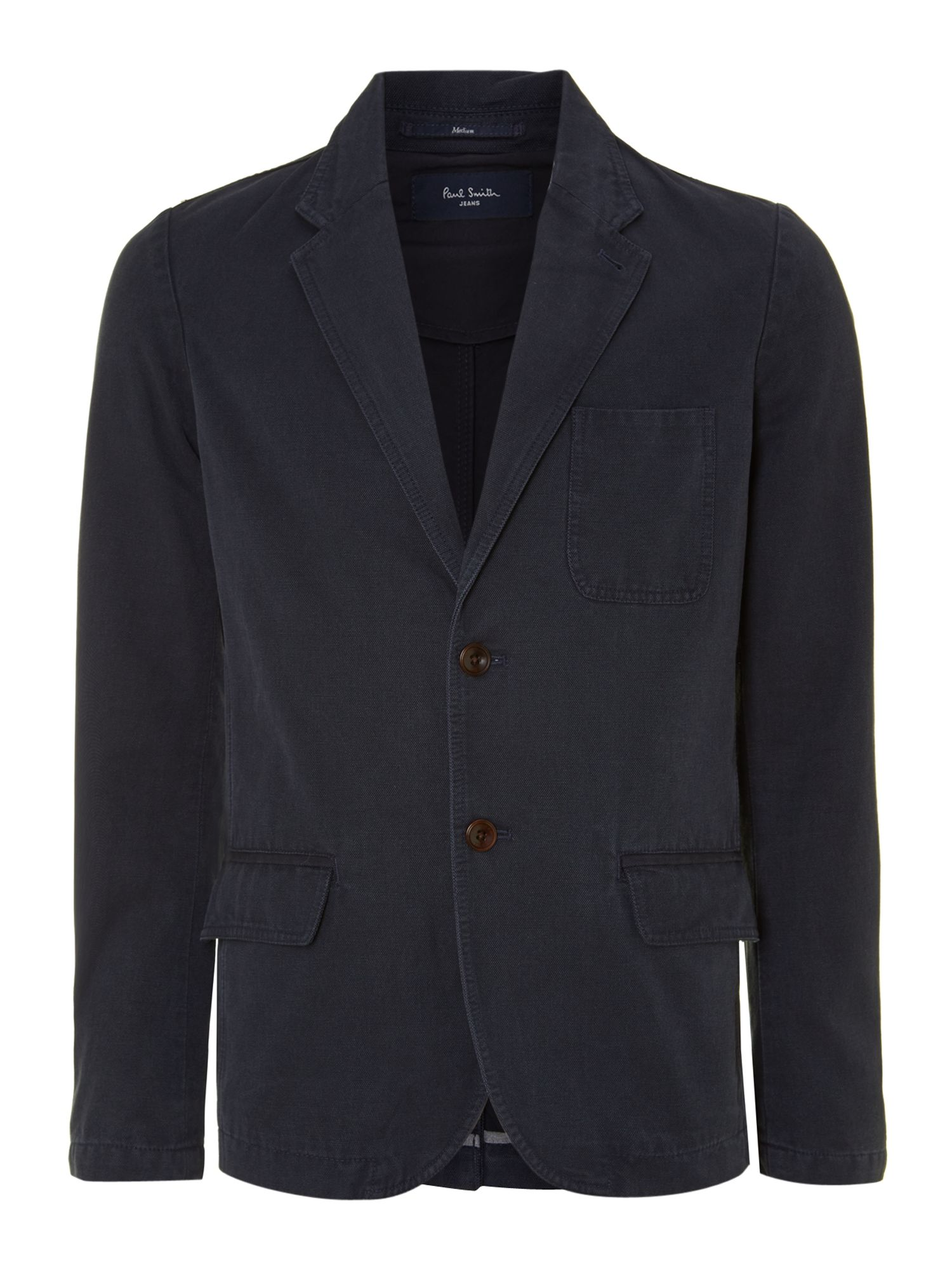 Washed canvas blazer