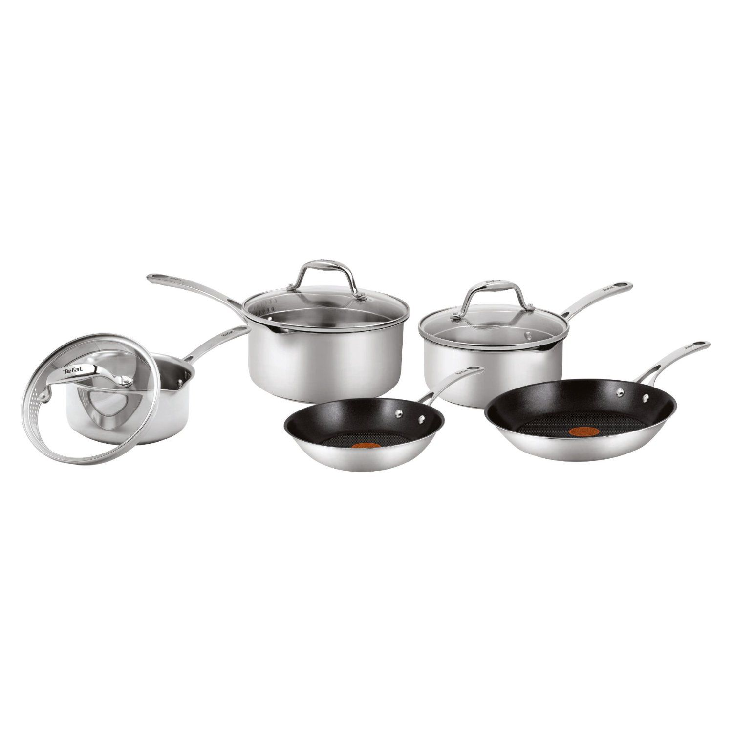 EasyStrain stainless steel 5pc cook set