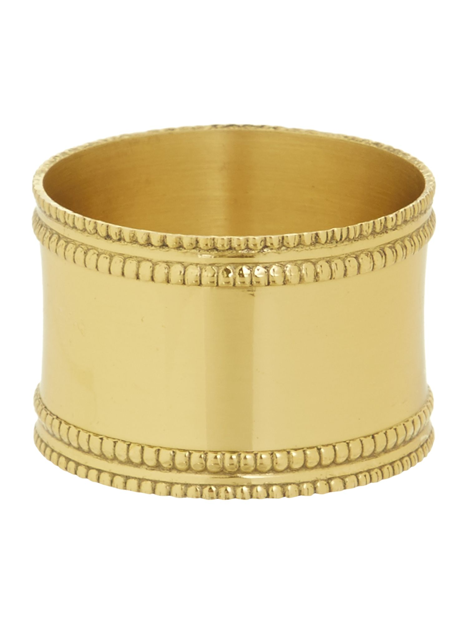 Gold band napkin ring set of 4