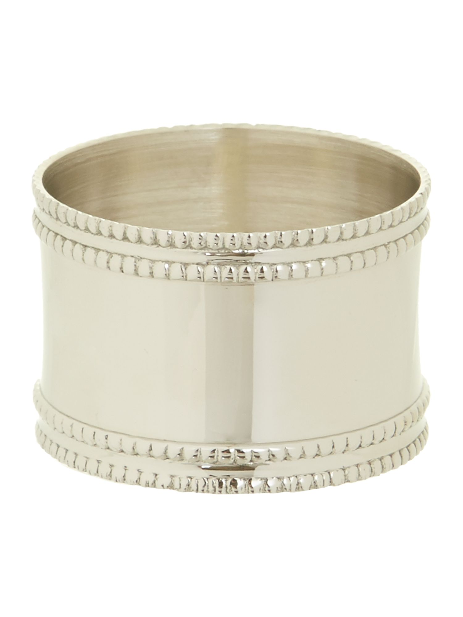 Silver band napkin ring set of 4