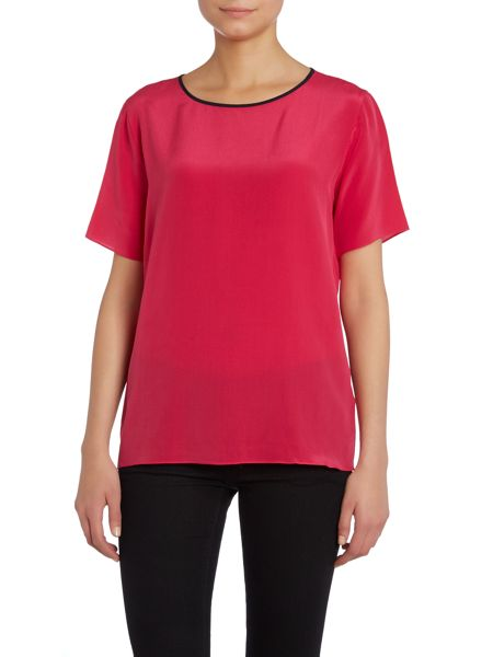 Paul Smith Black Label Silk tee with contrast trim