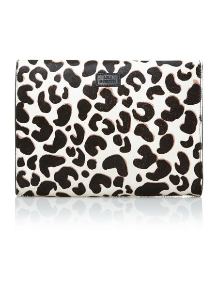 Lulu Guinness Leo pony multi-coloured clutch bag