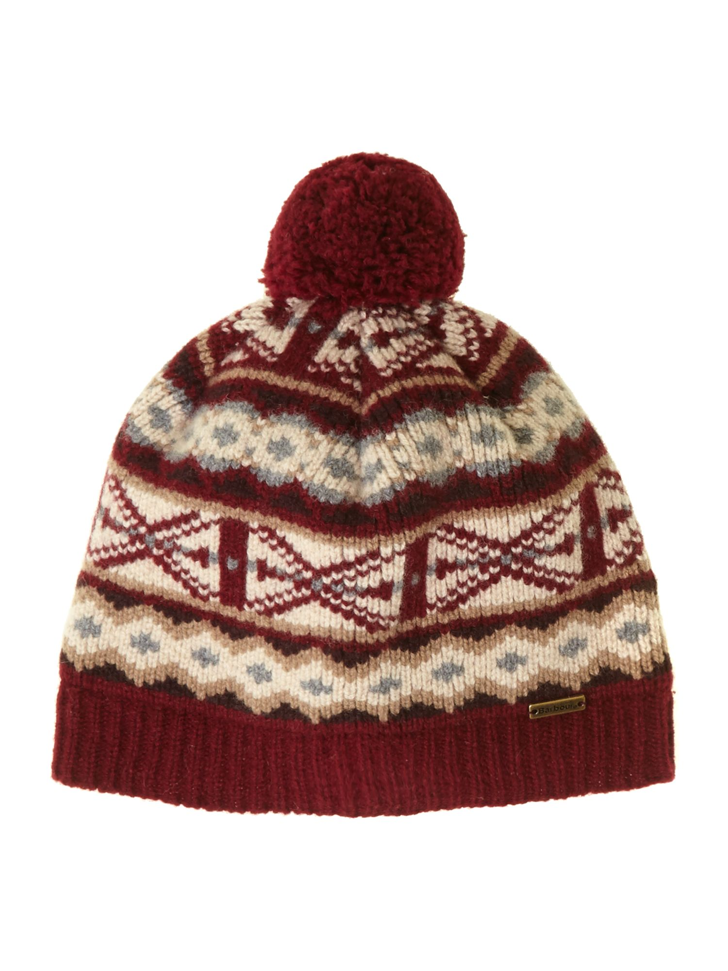 Rowley fairisle bobble hat