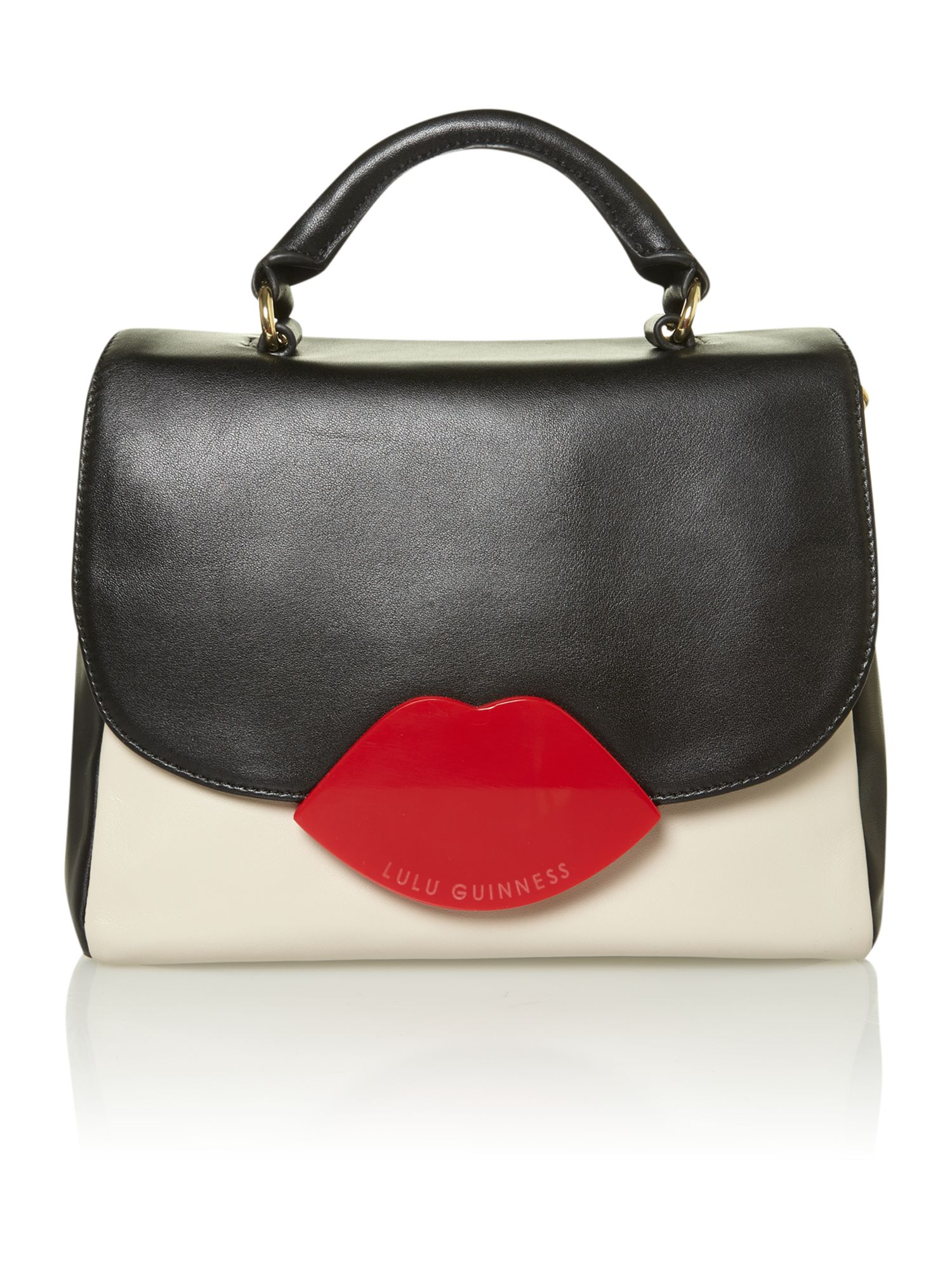 Lips hardware multi-coloured satchel