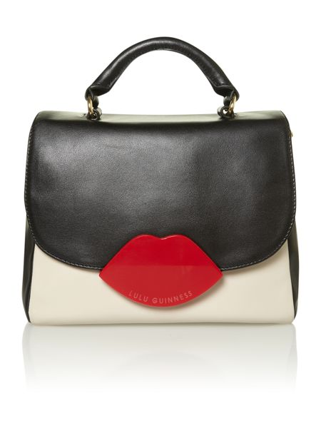 Lulu Guinness Lips hardware multi-coloured satchel