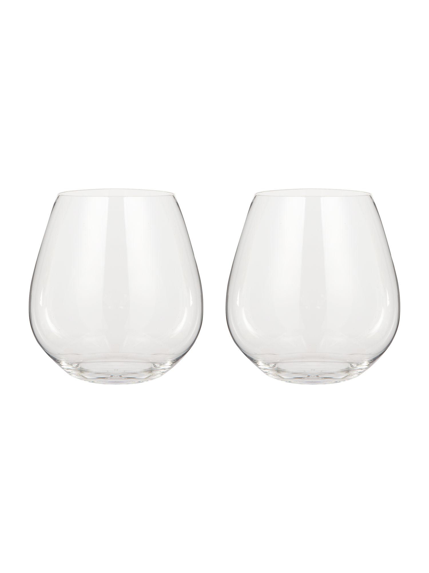 Image of Riedel O stemless pinot noir wine glass set of 2