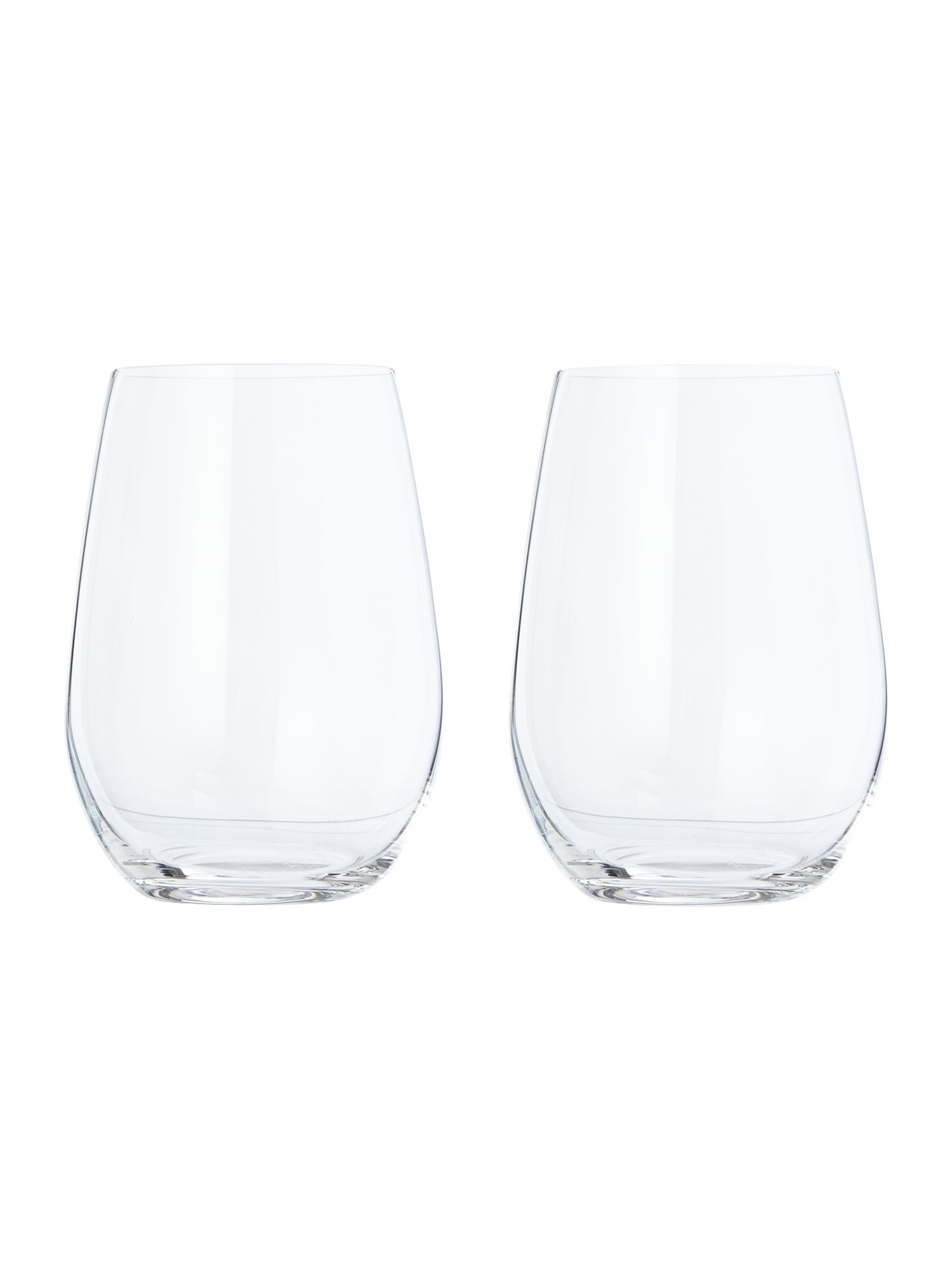 Image of Riedel O stemless sauvignon/riesling wine glass set of 2