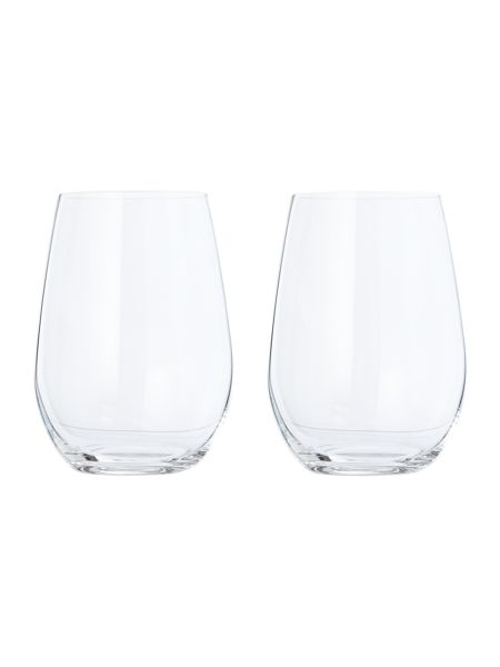 Riedel O stemless sauvignon/riesling wine glass set of 2