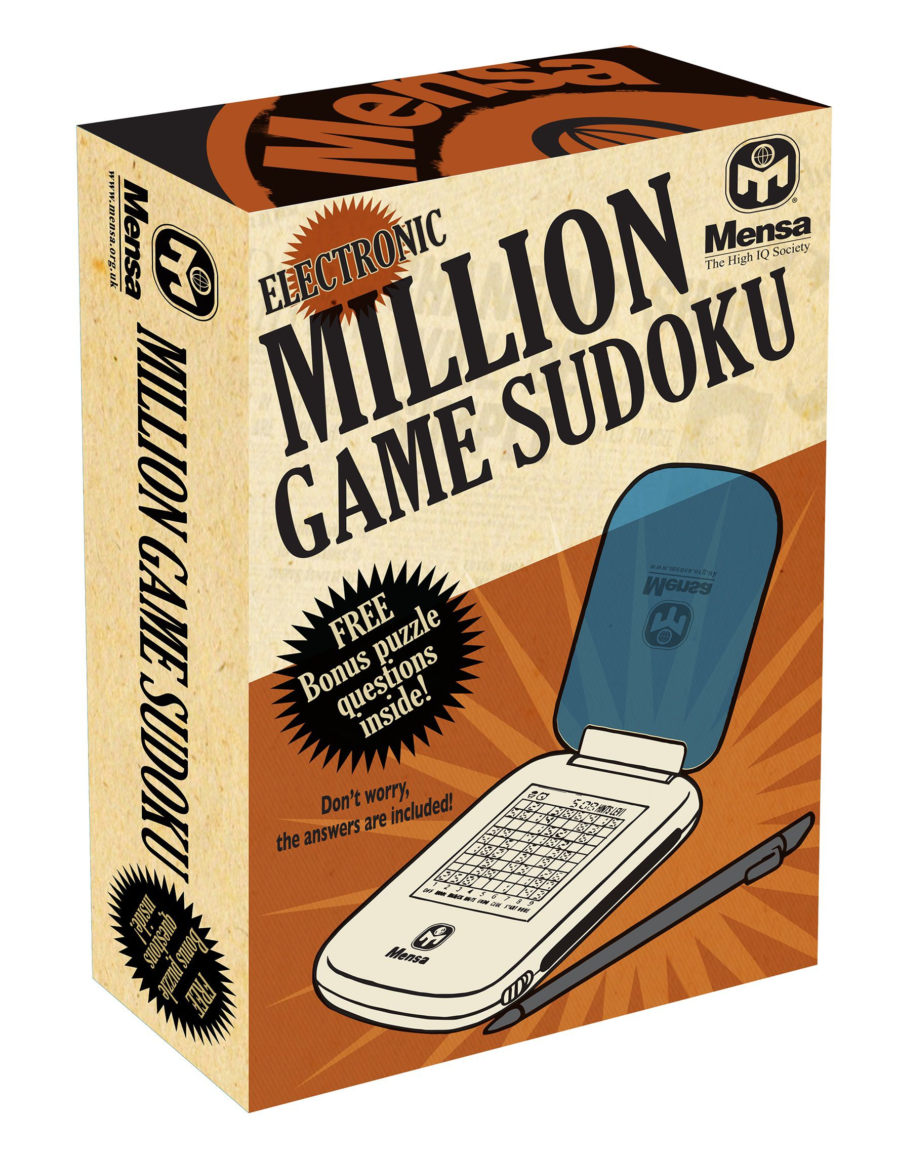 Mensa 1 million games suduko NA