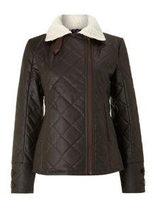 Lavenham Ashen Ladies Wax Jacket