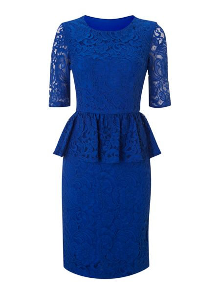 Untold Lace peplum dress