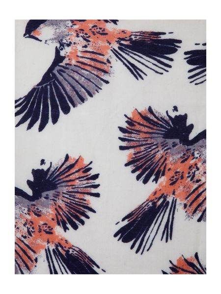 Lola Rose Bird print wool scarf
