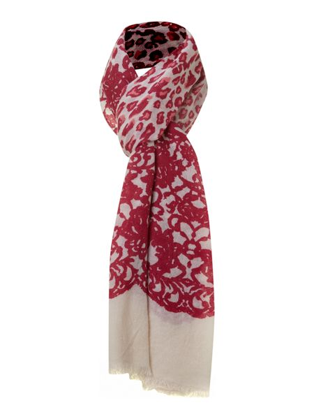 Lola Rose Leopard lace wool scarf