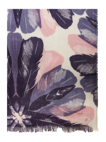 Lola Rose Feather floral wool scarf