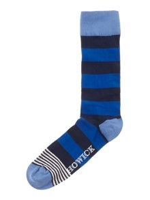 2 pack rugby stripe with accent socks