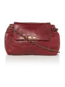 The girls red shoulder bag