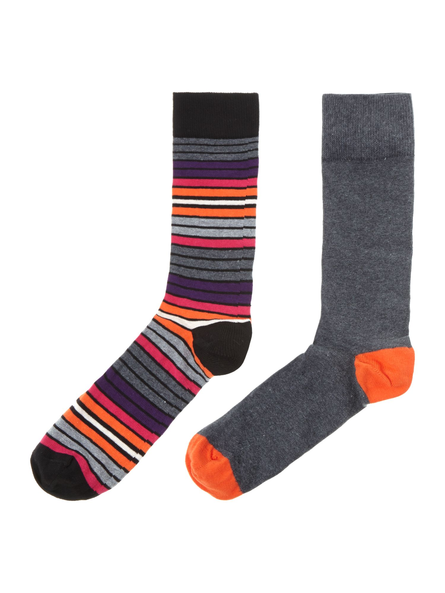 2 pack sunset strip stripe socks