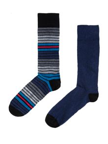 2 pack flash stripe socks