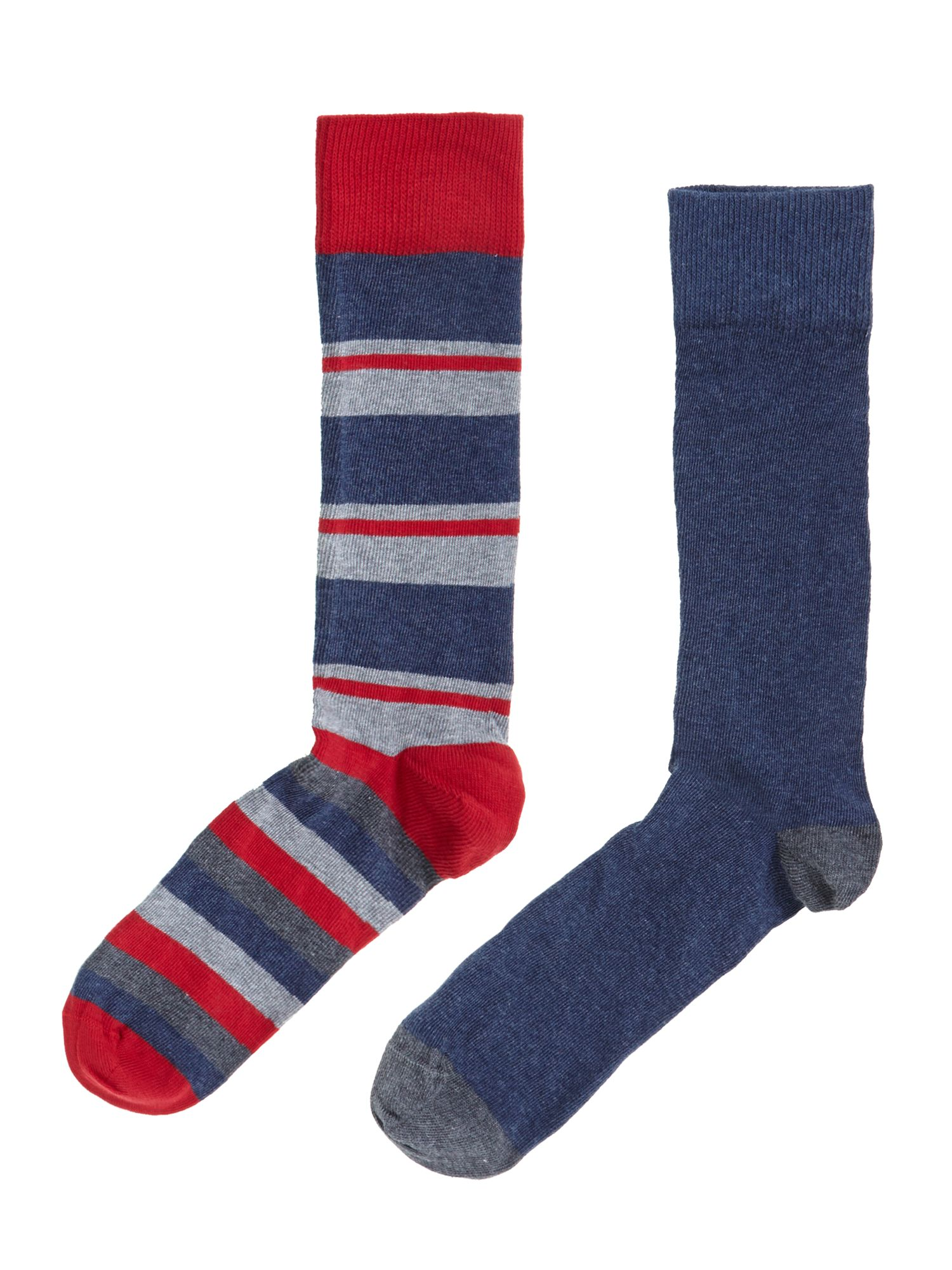 2 pack mod stripe socks