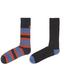 2 pack nepp wide stripe socks