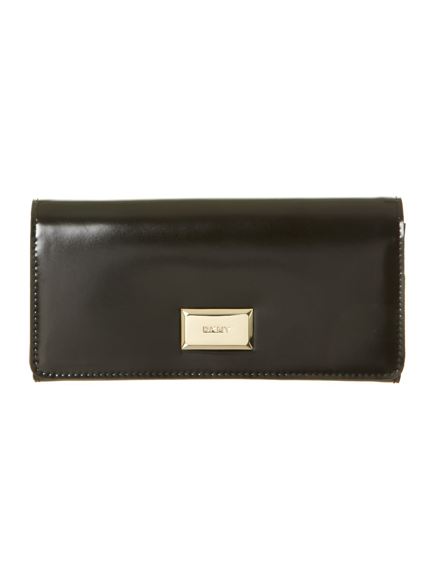 Hudson black flap over purse
