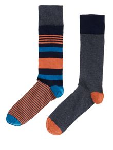 2 pack camouflage stripe socks