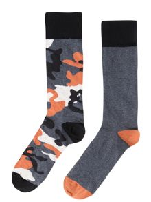 2 pack camouflage socks
