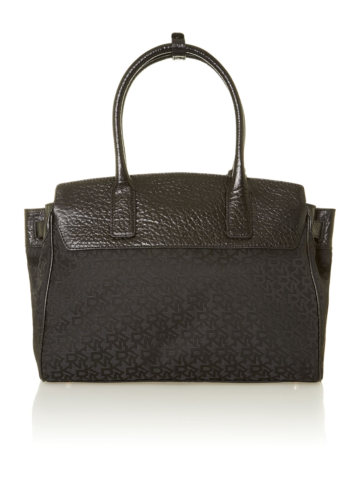 French grain black tote bag