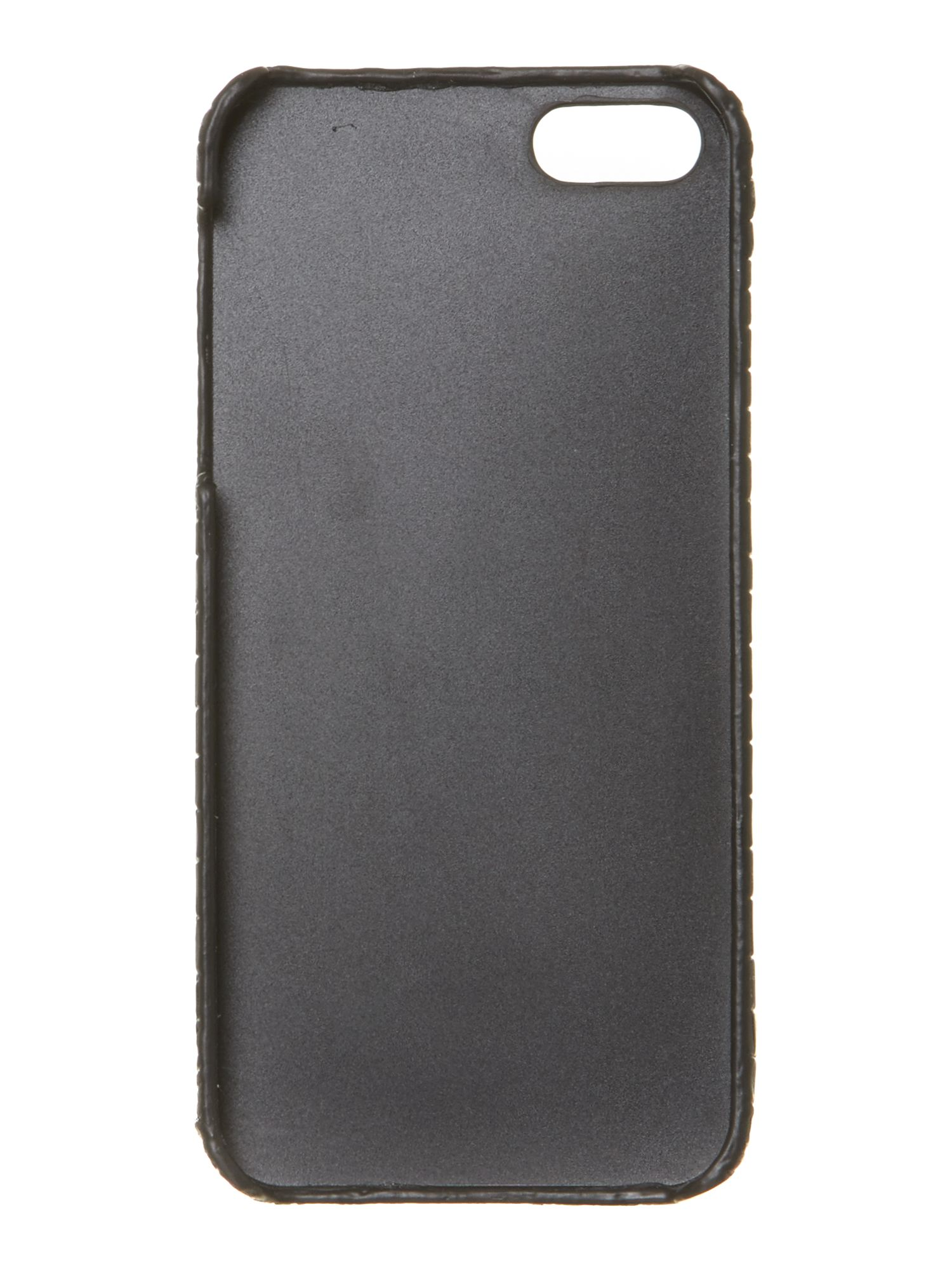 Saffiano black Iphone case