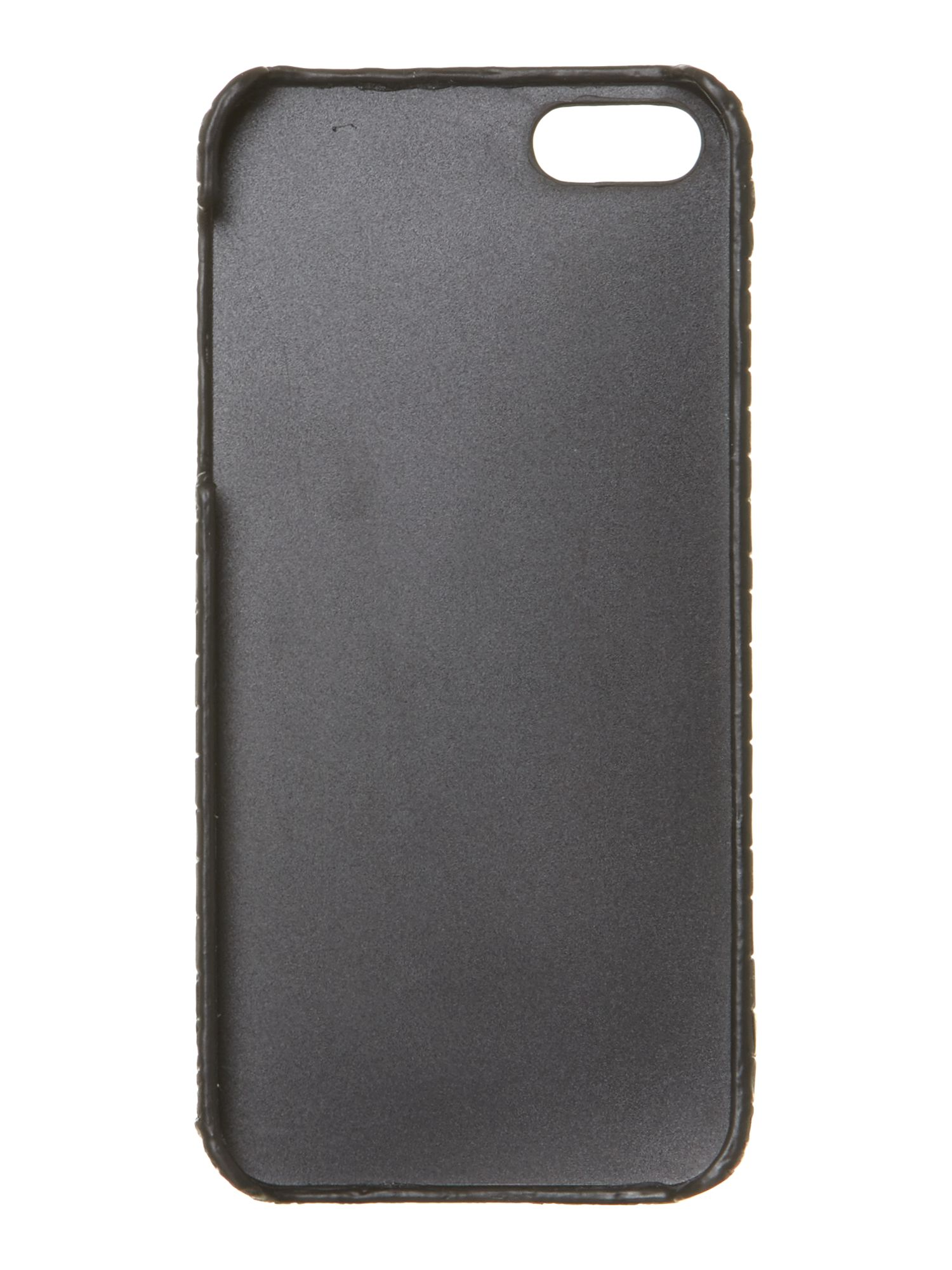 Lizard black leather Iphone case