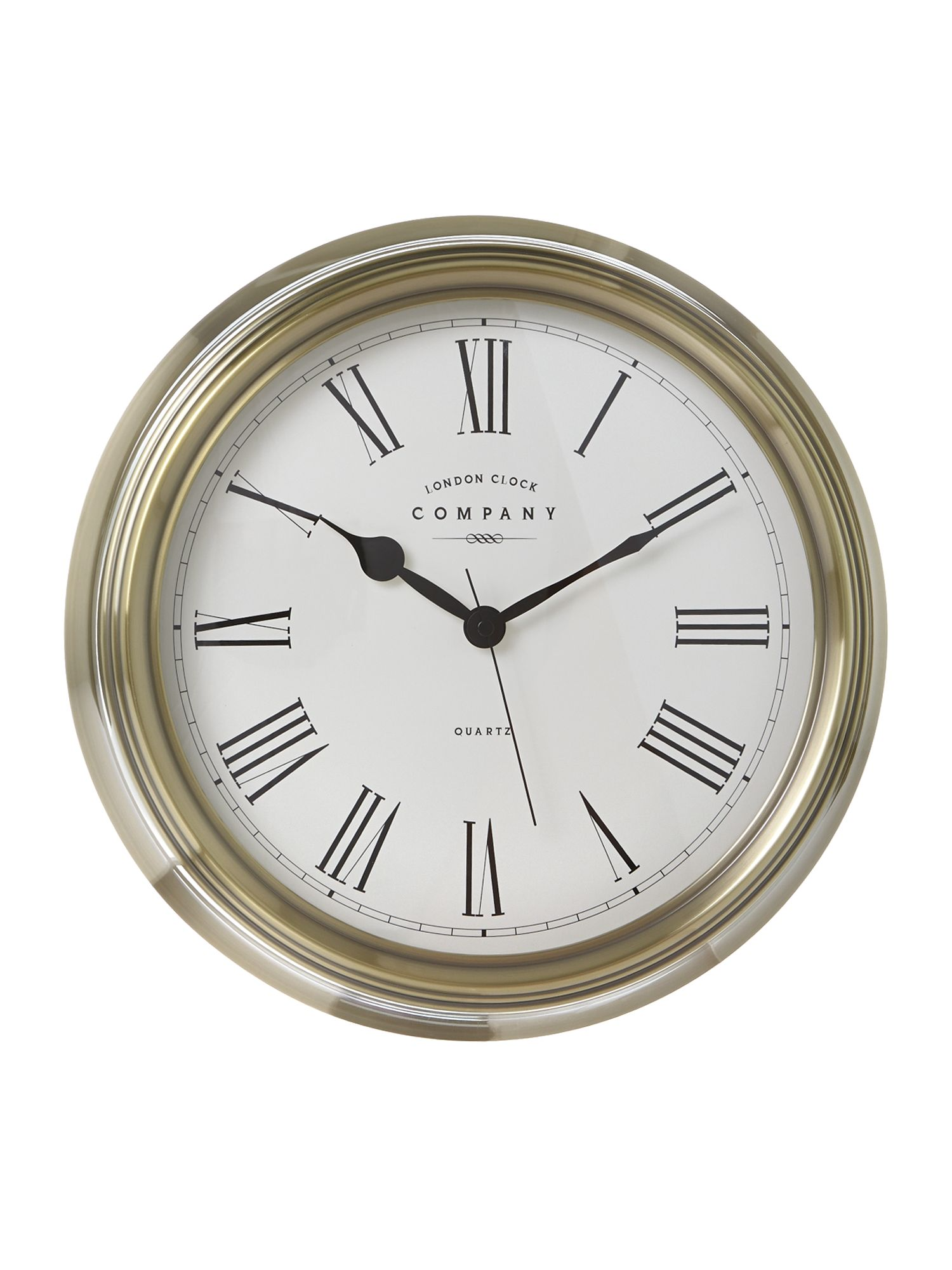 Traditional pewter finish wall clock