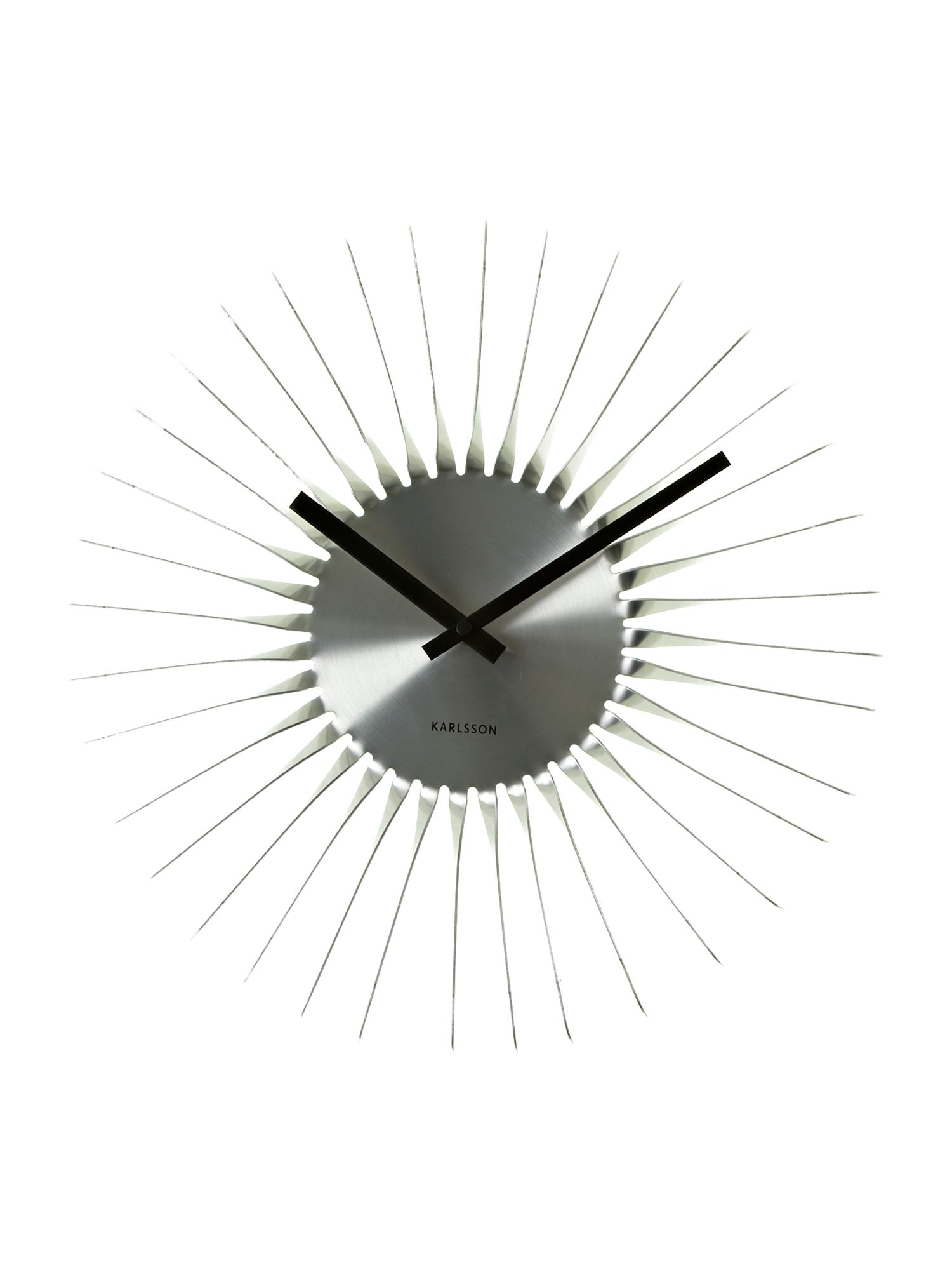 Twister alluminium wall clock