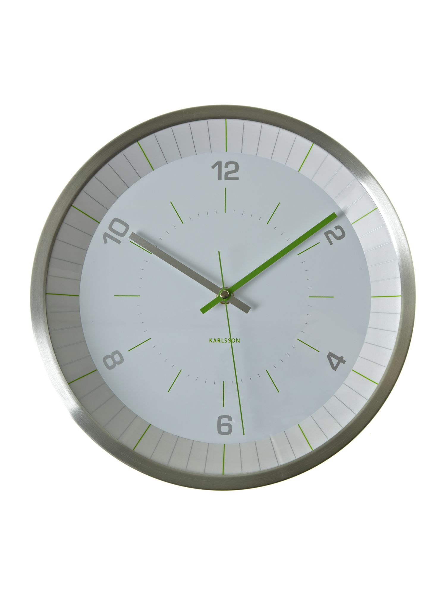 Bright line green wall clock