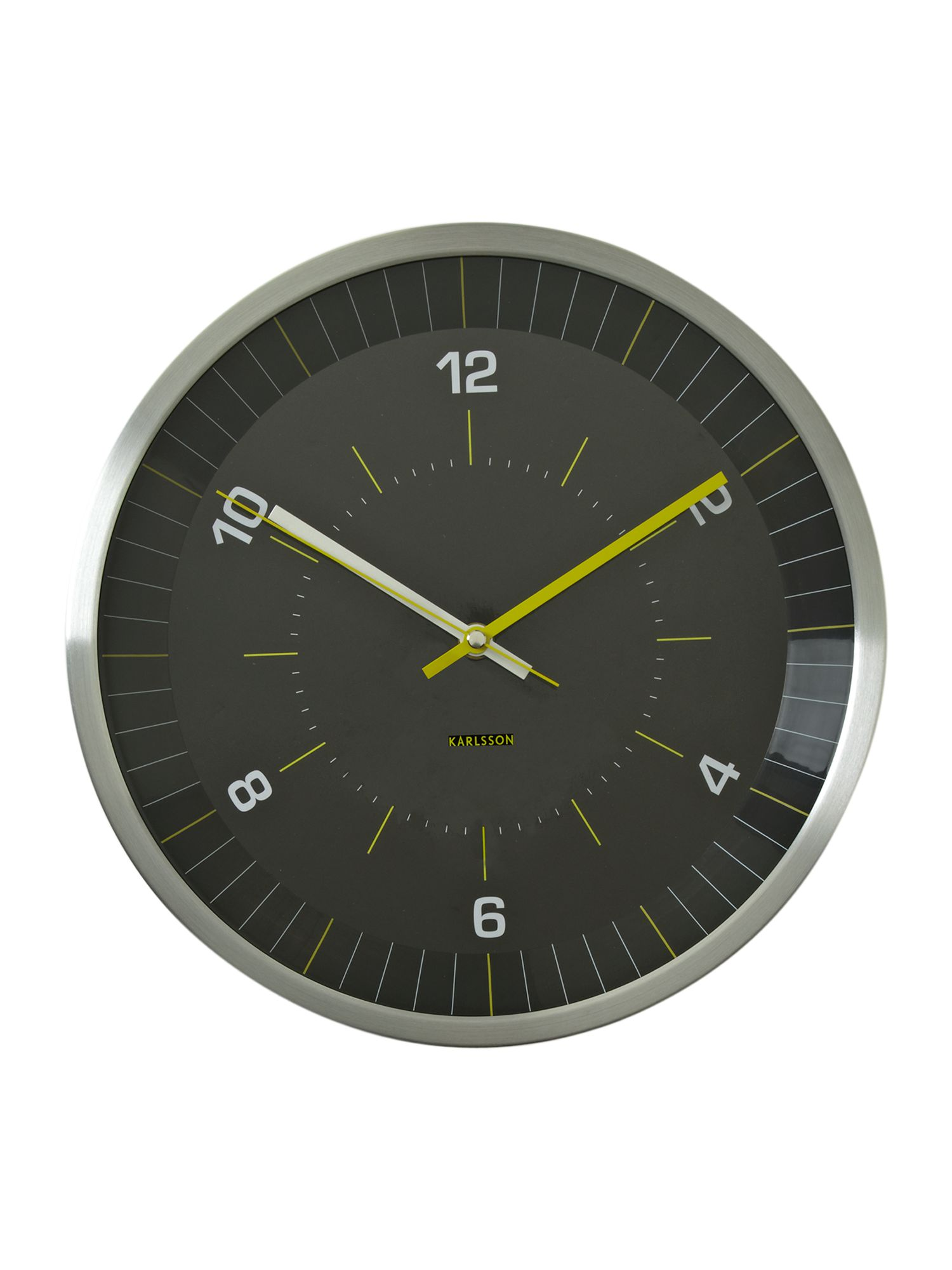 Bright line yellow wall clock