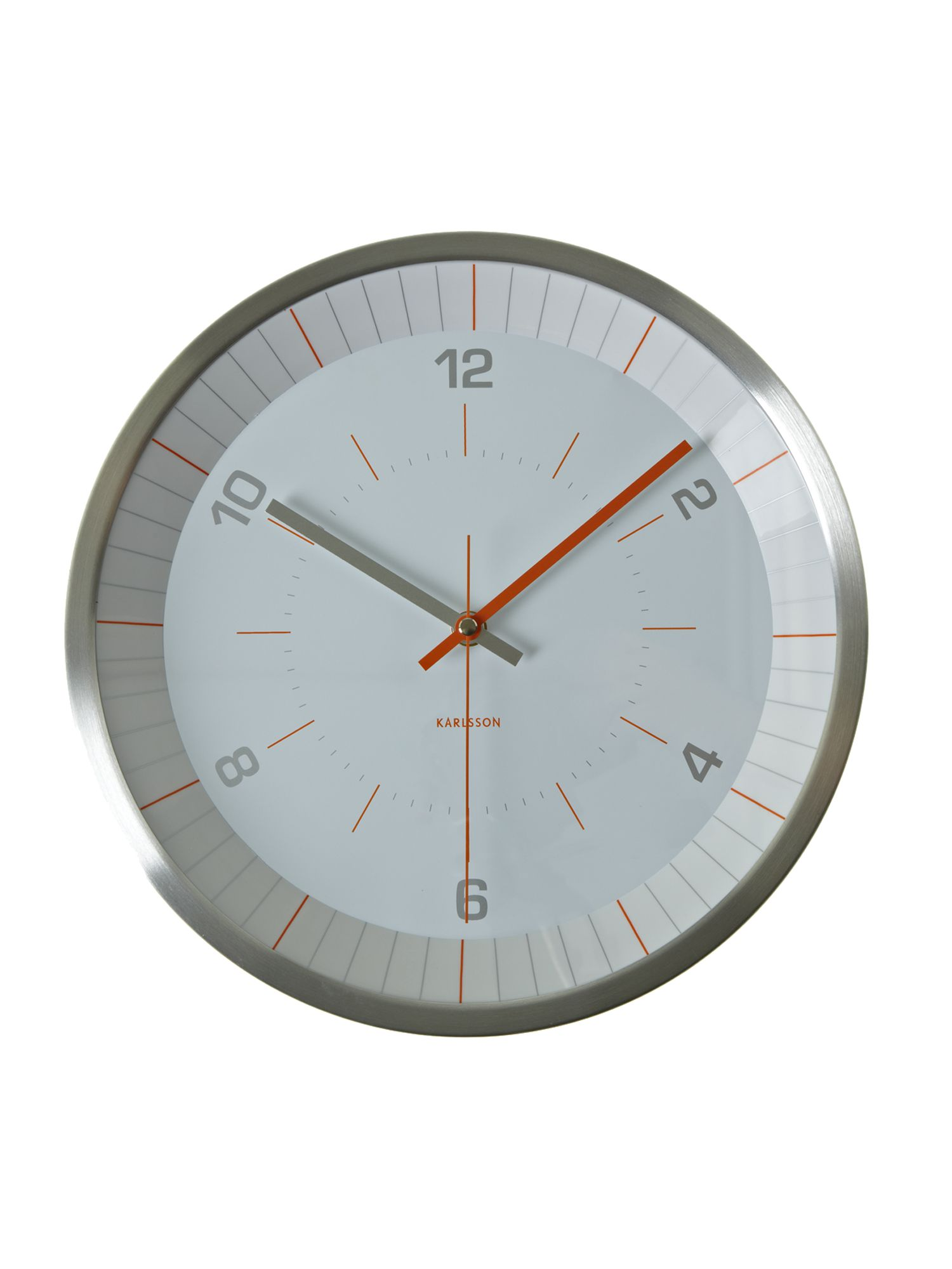 Bright line orange wall clock